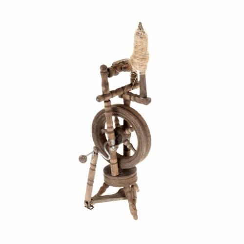 Nativity scene accessory, spinning wheel 10x5 cm s1