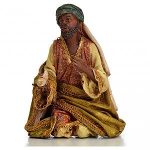 Nativity scene, Ethiopian Wise Man 18cm, Angela Tripi s1
