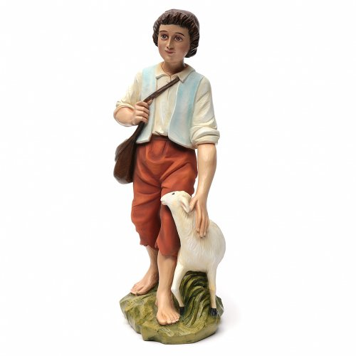 Nativity scene fiberglass figurine, shepherd and sheep 60 cm s8