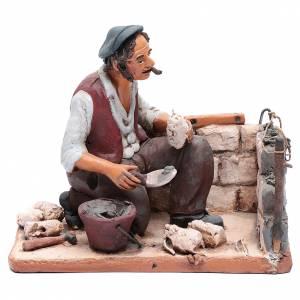 Terracotta Nativity Scene figurines from Deruta: Nativity Scene figurine, bricklayer 30cm Deruta