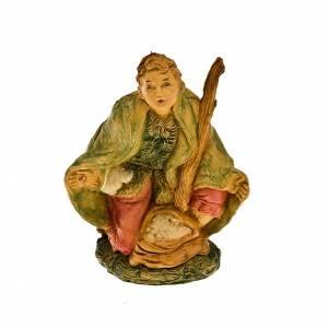 Nativity scene figurine, shepherd on his knees 10cm s1
