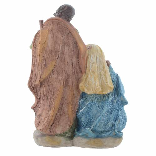 Nativity scene in multicoloured resin measuring 19cm s3