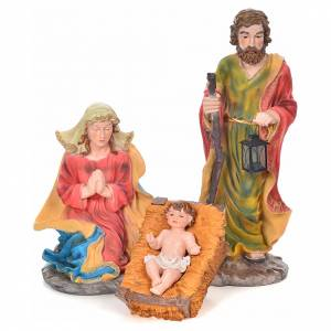 Resin and Fabric nativity scene sets: Nativity scene in resin, complete with 12 figurines 90cm.