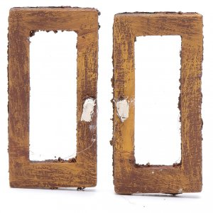 Balustrade, doors, railings: Nativity scene rectangular wooden window 2 pieces set 5 cm