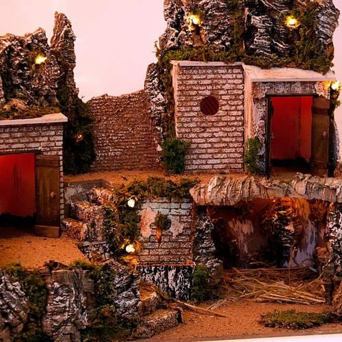 Nativity scene setting, grotto and village s2