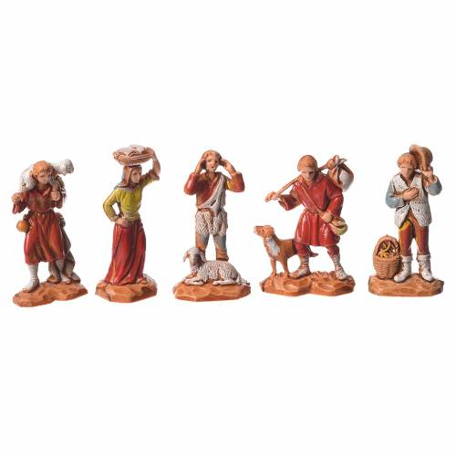 Nativity Scene shepherds and camel by Moranduzzo 3.5cm, 22 pieces s2