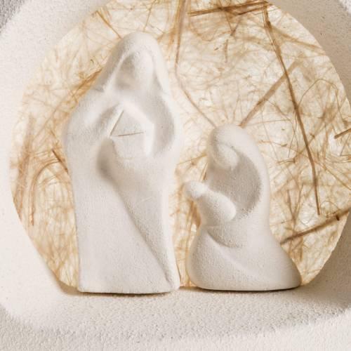 Nativity scene, tree shaped wall nativity in clay, beige s2