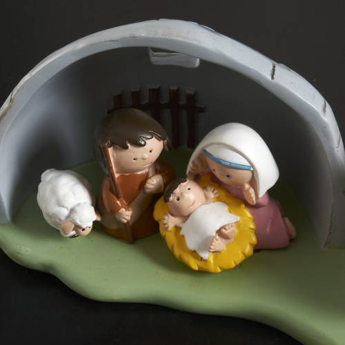 Nativity scene with stable, 7 figurines 8x18cm s2