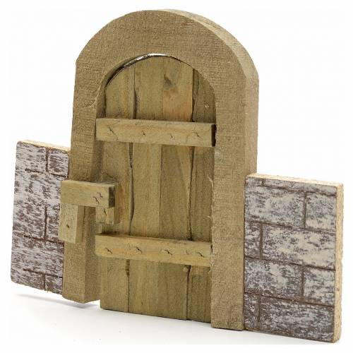 Nativity set accessory, arch gate with wall s1