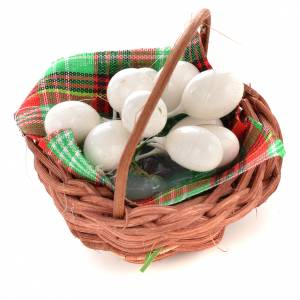 Nativity set accessory, egg basket s1