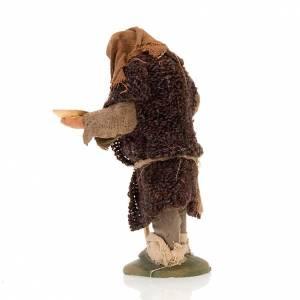 Nativity set accessory hunchbacked shepherd 10 cm clay figurine s3