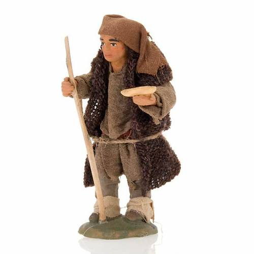 Nativity set accessory hunchbacked shepherd 10 cm clay figurine s1
