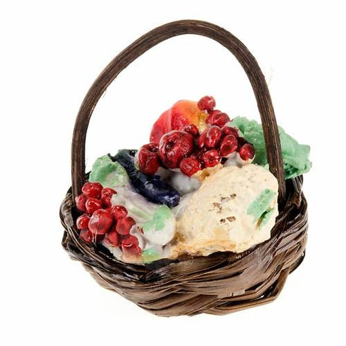 Nativity set accessory, vegetables basket with handle s1