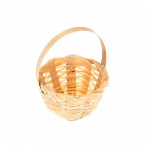 Home accessories miniatures: Nativity set accessory, wicker basket