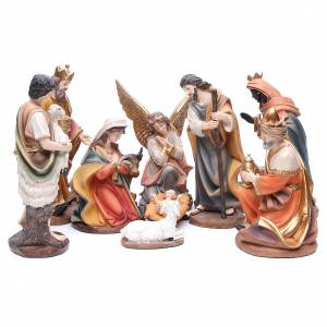 Resin and Fabric nativity scene sets: Nativity set in resin measuring 30cm complete with 11 characters