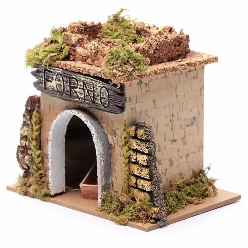 Nativity setting, baker's workshop 15x10cm s2
