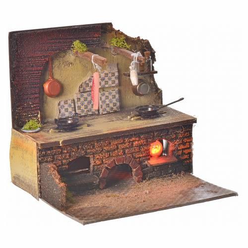 Nativity setting, kitchen 24x21x21cm s2