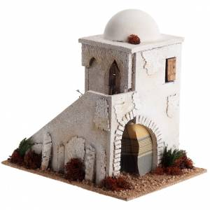 Settings, houses, workshops, wells: Nativity setting, minaret with dome and stairs