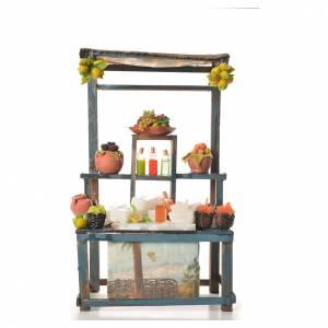 Miniature food: Nativity Sicilian granita stall, 38x22x13cm