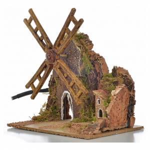 Nativity wind mill with engine 13x10x16cm s3