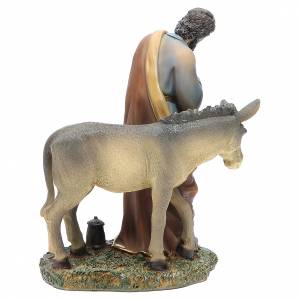 Nativity with 3 figurines measuring 20cm, in resin with animals s4