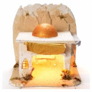 Neapolitan Nativity Scene: Neapolitan Nativity 35x35x35cm Arabian cabin