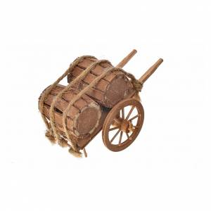 Neapolitan Nativity accessory, barrels cart 8x12x7cm s2