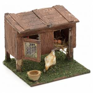 Neapolitan nativity accessory, cage with hens 8/10cm s3