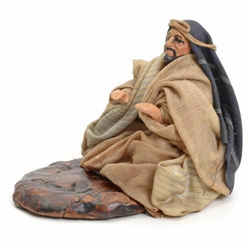 Neapolitan nativity figurine, Arabian man warming up, 8cm s2