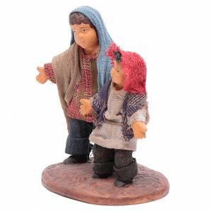 Neapolitan Nativity figurine, couple of young boys, 12 cm s2