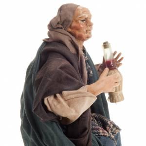 Neapolitan nativity figurine, drunk man 18cm s5