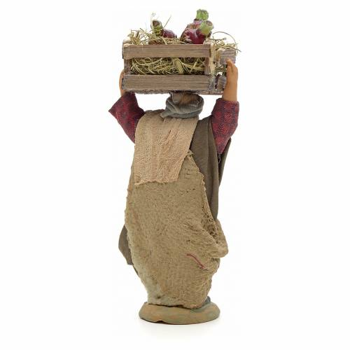 Neapolitan Nativity figurine, man carrying flasks, 10 cm s2