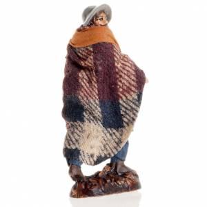 Neapolitan Nativity figurine, Man with cane 8cm s2