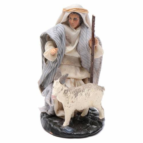 Neapolitan Nativity figurine, Man with goat 8cm s1