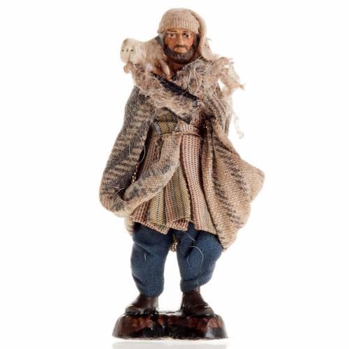 Neapolitan Nativity figurine, Shepherd 8cm s1