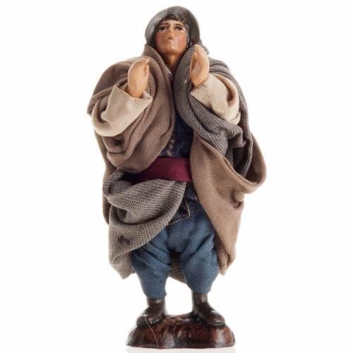 Neapolitan Nativity figurine, Singing man 8cm s1