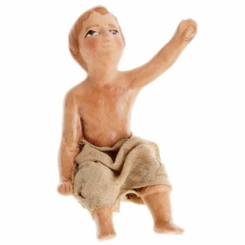 Neapolitan Nativity figurine, Sitting child 8cm s1