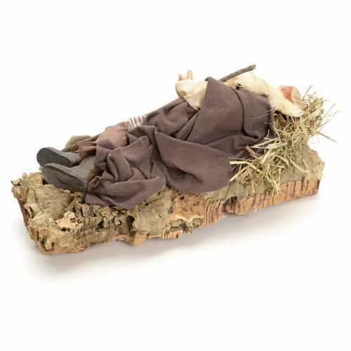 Neapolitan nativity figurine, sleeping man 18cm s3