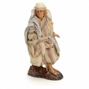 Neapolitan Nativity figurine, traveller, 8 cm s1
