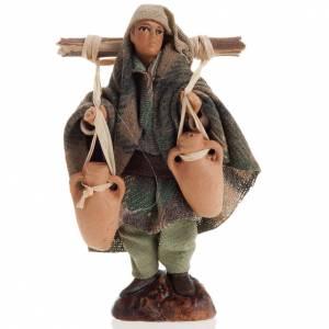 Neapolitan nativity figurine, water carrier 8cm s1