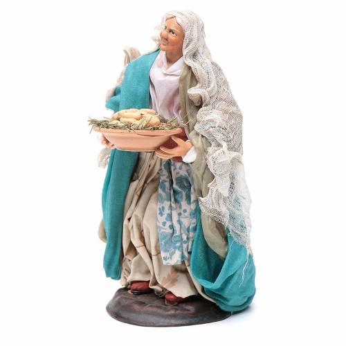Neapolitan nativity figurine, woman with egg basket 18cm s2