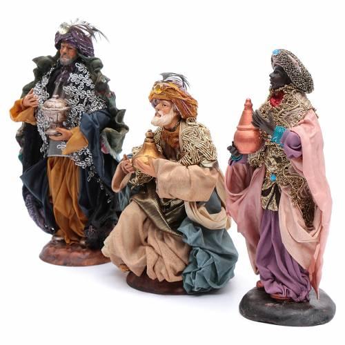 Neapolitan nativity figurines, Magi 18cm s2