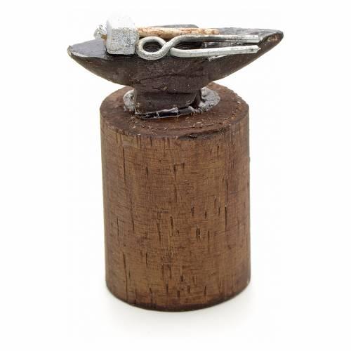 Neapolitan Nativity scene accessory, blacksmith anvil, 10 cm s1