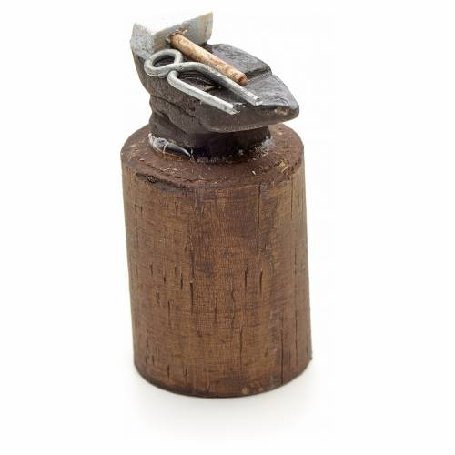 Neapolitan Nativity scene accessory, blacksmith anvil, 10 cm s2