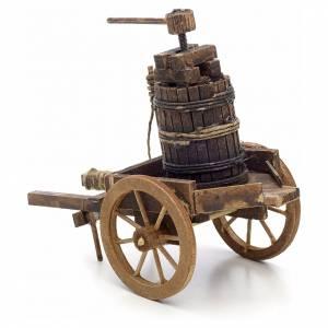 Neapolitan Nativity scene accessory, cart with press s3