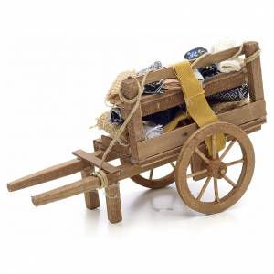 Neapolitan Nativity scene accessory, cloth cart s2