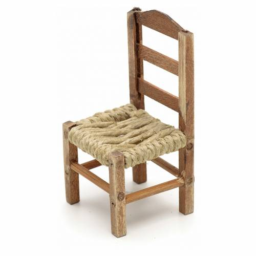 Neapolitan Nativity scene accessory, medium chair 8cm s2