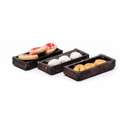 Neapolitan Nativity scene accessory, pizza trays 3 pieces s3