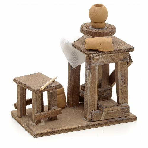 Neapolitan Nativity scene accessory, potter's wheel s2