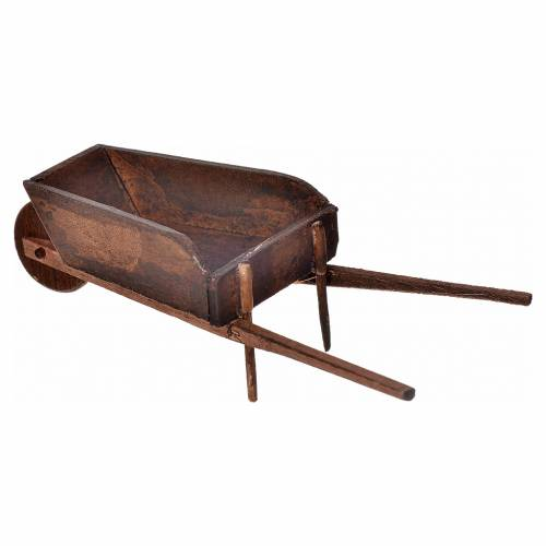 Neapolitan Nativity scene accessory, wheelbarrow, 4x11x4cm s2